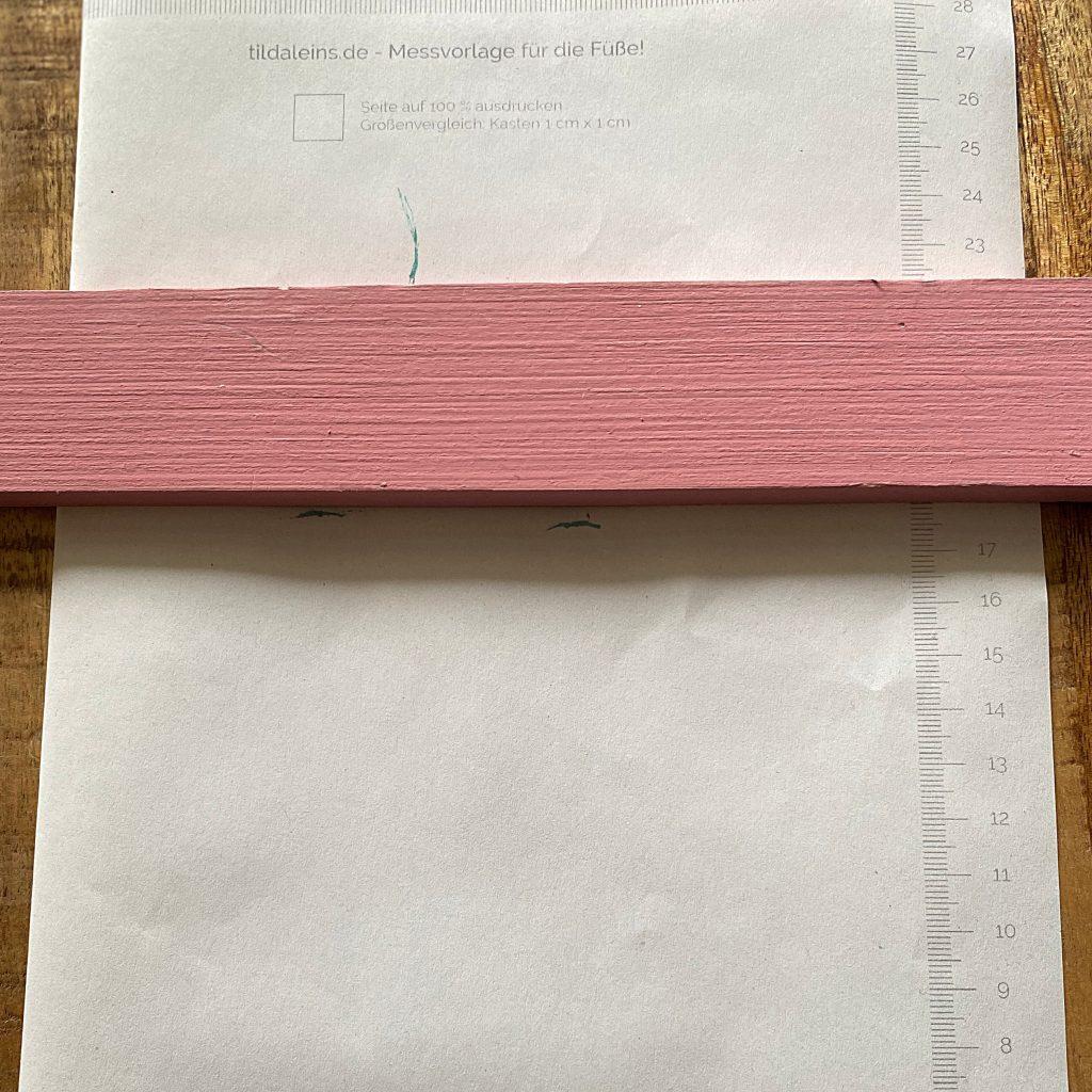Tildaleins-Füßemessen-Maßblatt